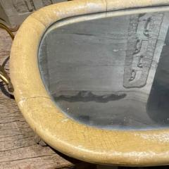 Aldo Tura Aldo Tura Macabo Exquisite Serving Tray Mirrored Goatskin Brass ITALY 1940s - 2083126