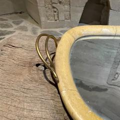 Aldo Tura Aldo Tura Macabo Exquisite Serving Tray Mirrored Goatskin Brass ITALY 1940s - 2083127