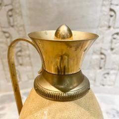 Aldo Tura Aldo Tura for Macabo CARAFE Pitcher Lacquered Goatskin and Brass 1940s ITALY - 2083108