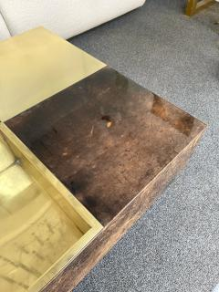 Aldo Tura Coffee Table Bar Lacquered Goatskin and Brass by Aldo Tura Italy 1970s - 1948303