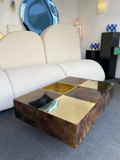 Aldo Tura Coffee Table Bar Lacquered Goatskin and Brass by Aldo Tura Italy 1970s - 1948308