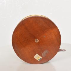 Aldo Tura Divine Red Goatskin Brass Two Tiered Candy Dish by Aldo Tura MILANO 1960s - 1846397