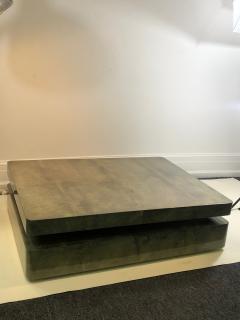 Aldo Tura EXCEPTIONAL DUAL DESIGN GOATSKIN COFFEE TABLE BY ALDO TURA - 1059023