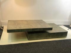 Aldo Tura EXCEPTIONAL DUAL DESIGN GOATSKIN COFFEE TABLE BY ALDO TURA - 1059025