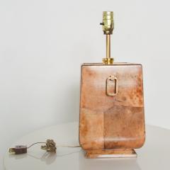 Aldo Tura Exquisite Aldo TURA Table LAMP Lacquered Bronze Burl Parchment with Brass ITALY - 1520508