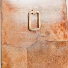 Aldo Tura Exquisite Aldo TURA Table LAMP Lacquered Bronze Burl Parchment with Brass ITALY - 1520515