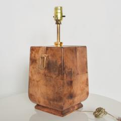 Aldo Tura Exquisite Aldo TURA Table LAMP Lacquered Bronze Burl Parchment with Brass ITALY - 1520522