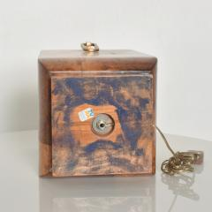 Aldo Tura Exquisite Aldo TURA Table LAMP Lacquered Bronze Burl Parchment with Brass ITALY - 1520523