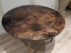 Aldo Tura Extending Parchment Top Dining Table by Aldo Tura Italy 1970 - 1307807