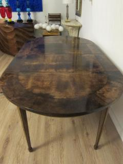 Aldo Tura Extending Parchment Top Dining Table by Aldo Tura Italy 1970 - 1307809