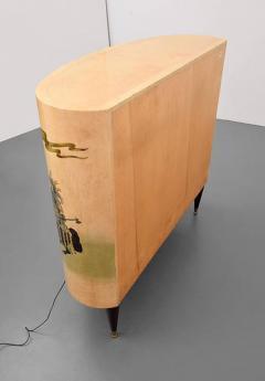 Aldo Tura LACQUERED PARCHMENT BAR CABINET BY ALDO TURA - 1911367