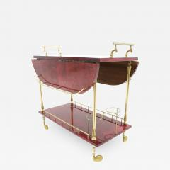 large bar cart oversized bar aldo tura large bar cart by in red goatskin and brass italy 1960s