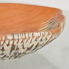 Aldo Tura Macabo Cusano ALDO TURA Designer Carved Wood Brass Basket Milan Italy 1960s - 1536745