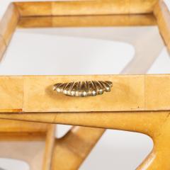 Aldo Tura Mid Century Modern Lacquered Goatskin Brass Bar by Aldo Tura - 1522774