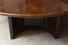 Aldo Tura Monumental Italian Modern Goatskin and Dark Walnut Dining Table by Aldo Tura - 373042