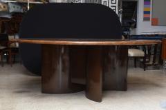 Aldo Tura Monumental Italian Modern Goatskin and Dark Walnut Dining Table by Aldo Tura - 373043