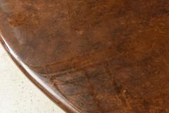 Aldo Tura Monumental Italian Modern Goatskin and Dark Walnut Dining Table by Aldo Tura - 373044