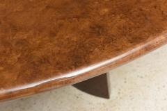 Aldo Tura Monumental Italian Modern Goatskin and Dark Walnut Dining Table by Aldo Tura - 373045