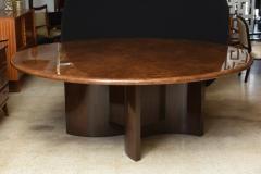 Aldo Tura Monumental Italian Modern Goatskin and Dark Walnut Dining Table by Aldo Tura - 373047