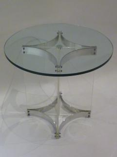 Alessandro Albrizzi Alessandro Albrizzi Lucite Glass And Chrome Side Table    233056