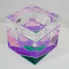 Alessandro Albrizzi EXCEPTIONAL MODERNIST COLOR BLOCK LUCITE ICE BUCKET BY ALESSANDRO ALBRIZZI - 1792903