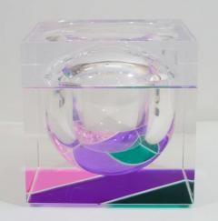 Alessandro Albrizzi EXCEPTIONAL MODERNIST COLOR BLOCK LUCITE ICE BUCKET BY ALESSANDRO ALBRIZZI - 1792907
