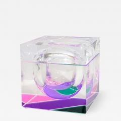 Alessandro Albrizzi EXCEPTIONAL MODERNIST COLOR BLOCK LUCITE ICE BUCKET BY ALESSANDRO ALBRIZZI - 1793003