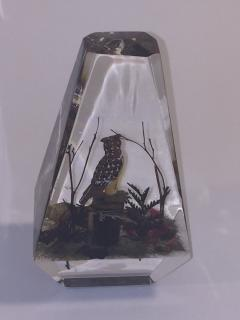 Alessandro Albrizzi Modern Trio of High End Solid Lucite Obelisks With Diorama of Wildlife Scenes - 540255