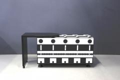 Alessandro Mendini Alessandro Mendini dresser Series Ollo Black and White for Alchimia Design 1980s - 1303657