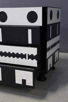Alessandro Mendini Alessandro Mendini dresser Series Ollo Black and White for Alchimia Design 1980s - 1303667