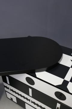 Alessandro Mendini Alessandro Mendini dresser Series Ollo Black and White for Alchimia Design 1980s - 1303668