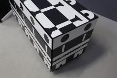 Alessandro Mendini Alessandro Mendini dresser Series Ollo Black and White for Alchimia Design 1980s - 1303670