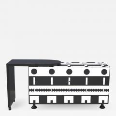 Alessandro Mendini Alessandro Mendini dresser Series Ollo Black and White for Alchimia Design 1980s - 1308525