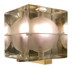 Alessandro Mendini Cubosfera Wall Lights by Alessandro Mendini Frosted Version - 1147880