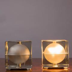 Alessandro Mendini Pair of Cubosfera Table Lamps by Alessandro Mendini for Fidenza Vetraria - 786831