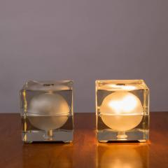 Alessandro Mendini Pair of Cubosfera Table Lamps by Alessandro Mendini for Fidenza Vetraria - 786832