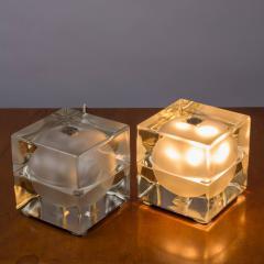Alessandro Mendini Pair of Cubosfera Table Lamps by Alessandro Mendini for Fidenza Vetraria - 786833