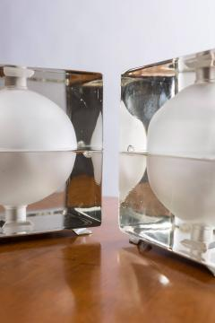 Alessandro Mendini Pair of Cubosfera Table Lamps by Alessandro Mendini for Fidenza Vetraria - 786834