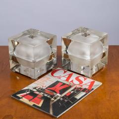 Alessandro Mendini Pair of Cubosfera Table Lamps by Alessandro Mendini for Fidenza Vetraria - 786838