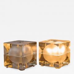 Alessandro Mendini Pair of Cubosfera Table Lamps by Alessandro Mendini for Fidenza Vetraria - 788102