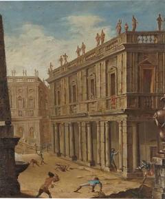 Alessandro Salucci Circle of Alessandro Salucci Italian Oil on Canvas - 793257