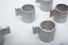 Alessio Tascsa Alessio Tasca Ceramic Demitasse Cups and Sugar Bowl Italy 1970s - 443472