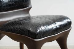 Alex Roskin Alex Roskin Tusk Chair in Aluminum with Bronze Finish USA - 1231105