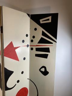 Alexander Calder CALDERESQUE HAND PAINTED WOOD FOUR PANEL STANDING SCREEN - 1198592