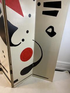 Alexander Calder CALDERESQUE HAND PAINTED WOOD FOUR PANEL STANDING SCREEN - 1198593