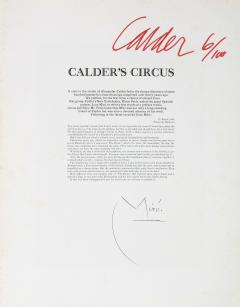 Alexander Calder Calders Circus Complete Set of Lithographs Signed Limited Edition 6 100 - 1703996