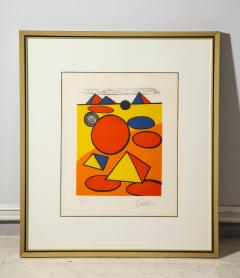 Alexander Calder Red and Yellow Geometric Lithograph Print by Alexander Calder signed - 1110635