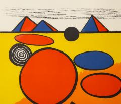 Alexander Calder Red and Yellow Geometric Lithograph Print by Alexander Calder signed - 1110637