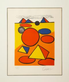 Alexander Calder Red and Yellow Geometric Lithograph Print by Alexander Calder signed - 1110638