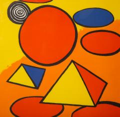 Alexander Calder Red and Yellow Geometric Lithograph Print by Alexander Calder signed - 1110639